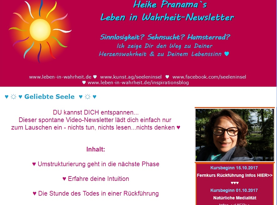 spontaner video newsletter aus dem zauberwald f r dich. Black Bedroom Furniture Sets. Home Design Ideas