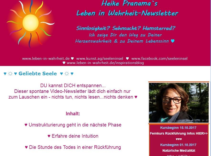 Spontaner Video-Newsletter aus dem Zauberwald Für DICH