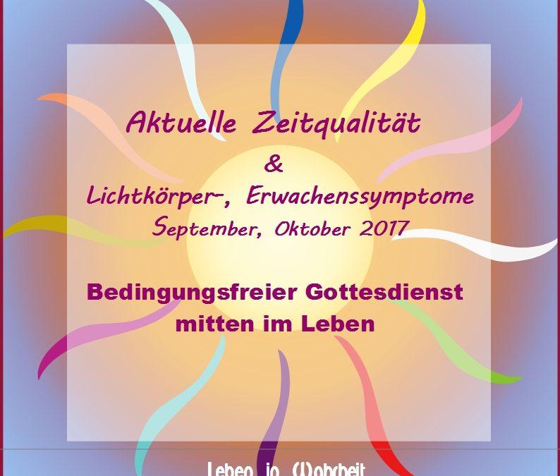 Webinar – Video Zeitqualität September & Oktober 2017 – Bedingungsfreier Gottesdienst mitten im Leben